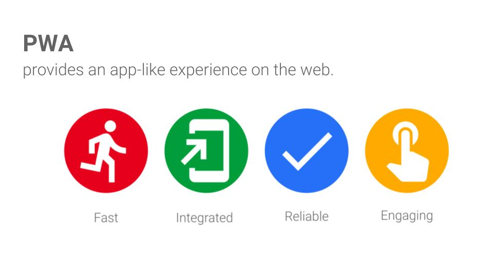 The key points of progressive web apps.