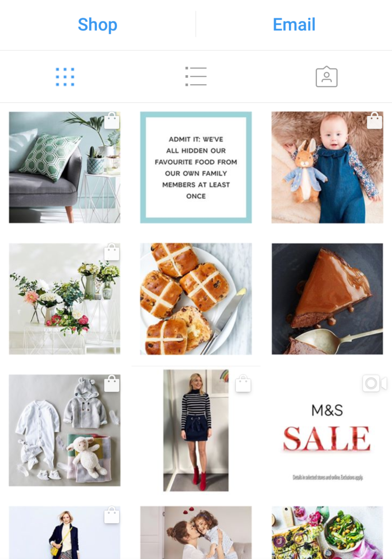 Example of Instagram Shoppable tags