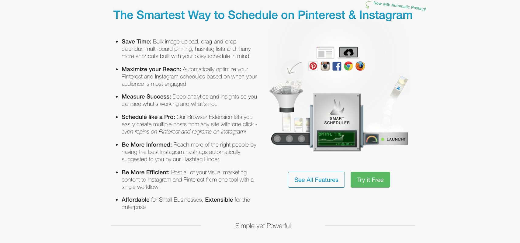 Image showing details about Tailwind, an excellent e-commerce marketing tool for Instagram and Pinterest.