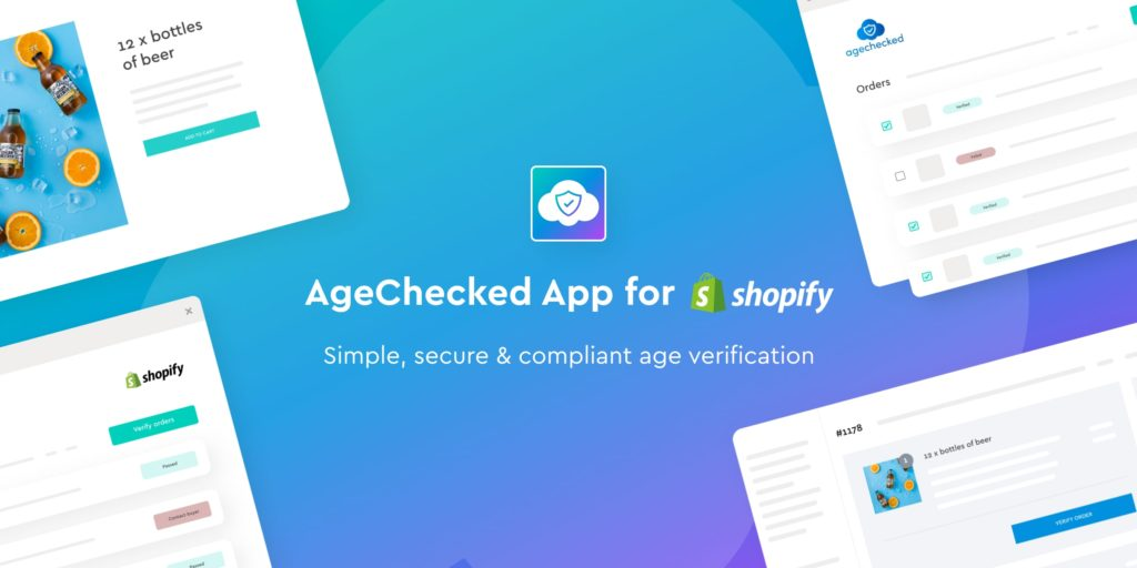 blubolt and AgeChecked collaborated to deliver the AgeChecked App for Shopify