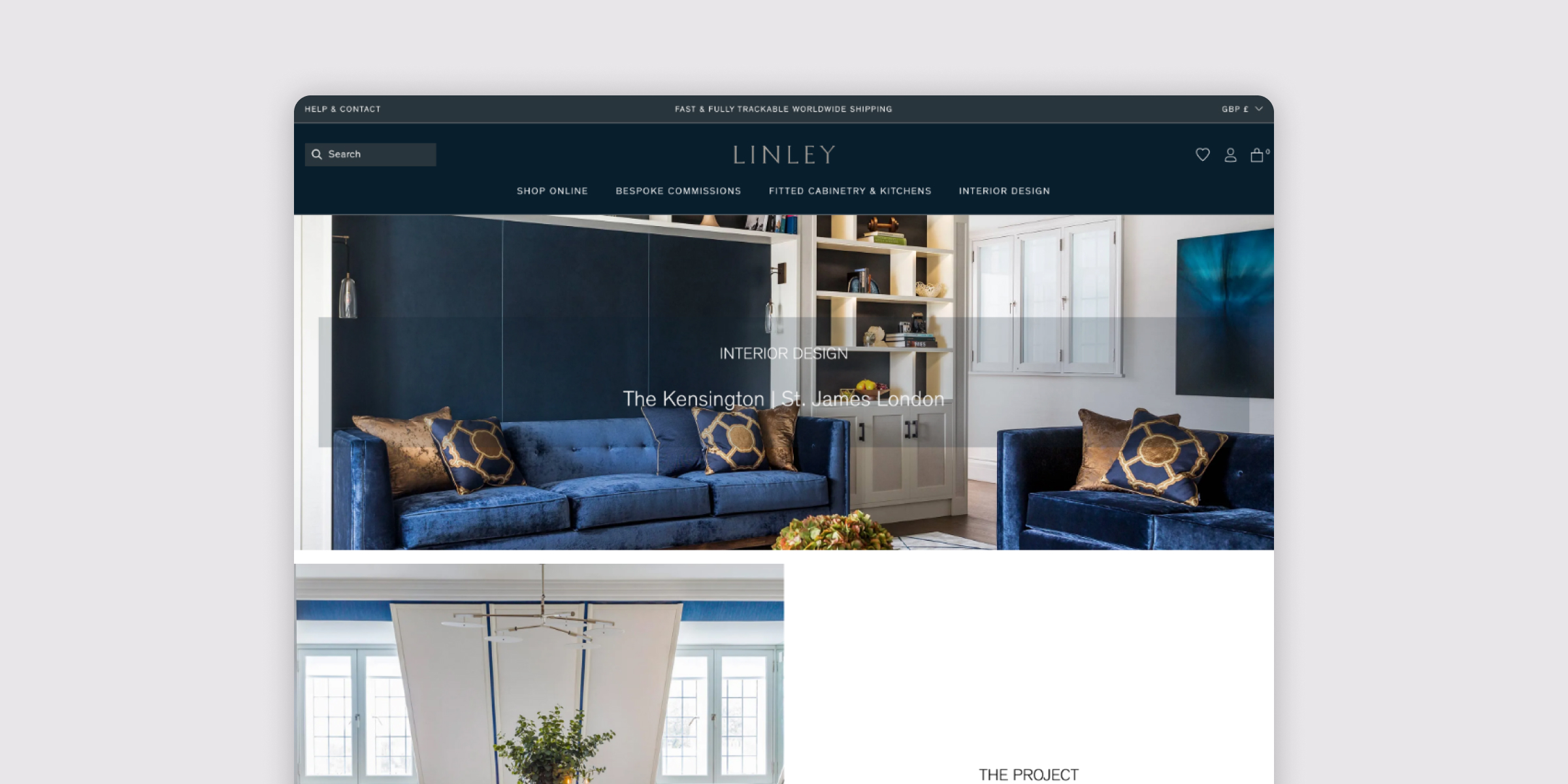 The LINLEY website on Shopify Plus