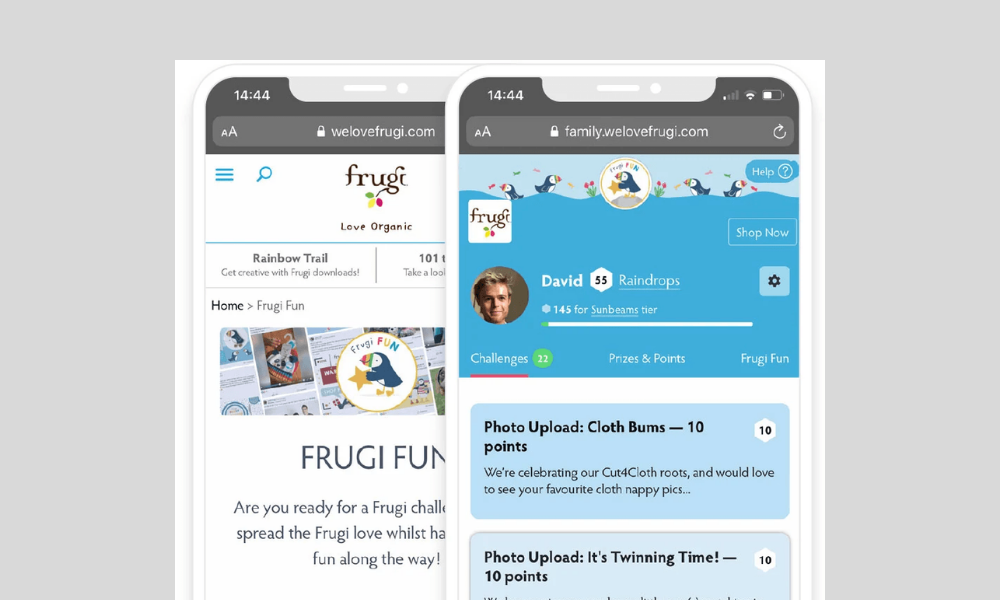 Mobile image of the Frugi Fun brand advocacy programme