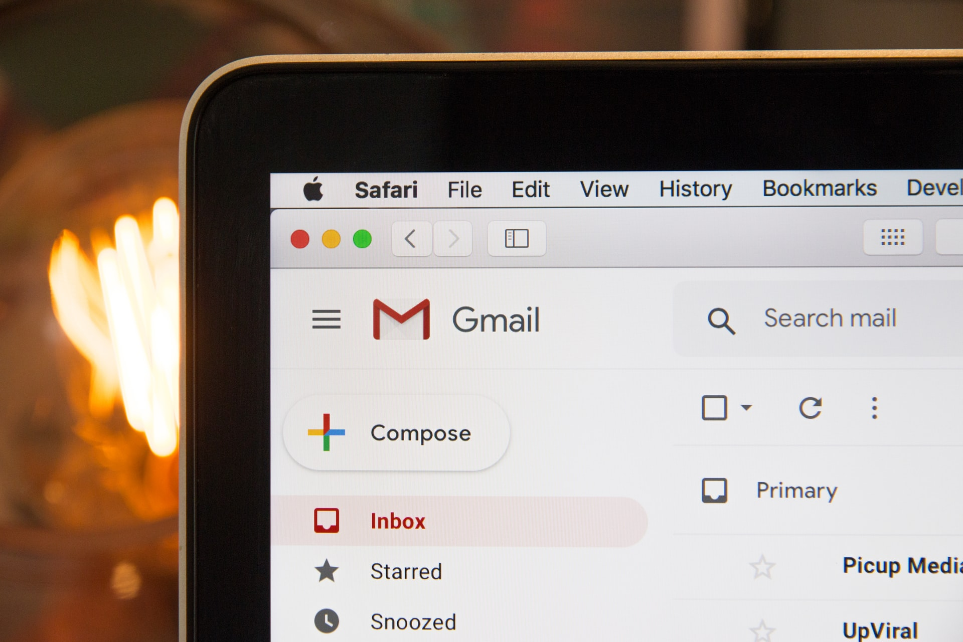 Brexit communications - Laptop screen showing Gmail inbox